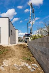 mur d'enceinte chantier maison