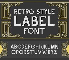 Vector vintage label font.  Retro style