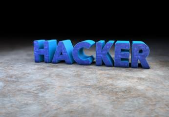 Hacker, 3D Typography