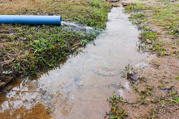 Contaminated underground water is alternative water source.