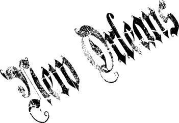 New Orleans text illustration