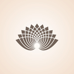 Icon Of Lotus Flower.