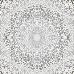 Grey Circle Lace Ornament