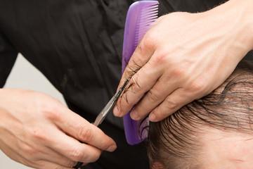 Female hair cutting scissors
