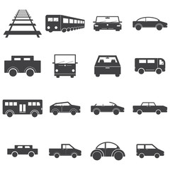 vehicles ,car,railway, train ,rail icon