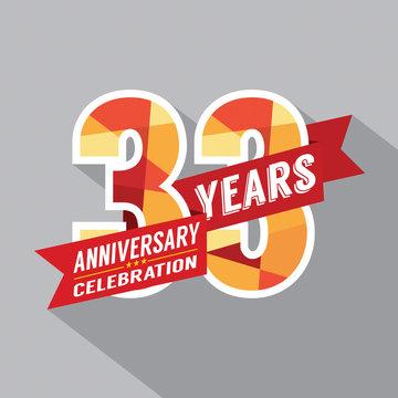 33rd Years Anniversary Celebration Design.