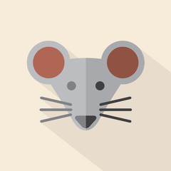 Modern Flat Design Mouse Icon Vector Illustration.