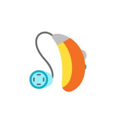 Hearing Aid apparatus, flat icon
