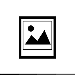 Landscape photo icon Illustration design