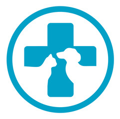 round veterinary medicine sign