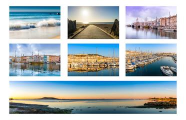 Carte postale de Sète, Occitanie en France