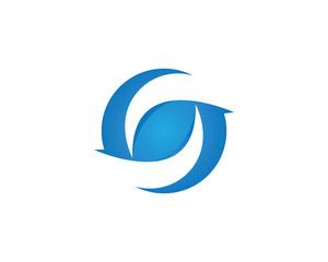 Business flip finance logo