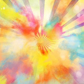 Pop-art colourful burst