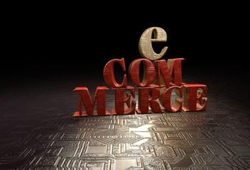e-Commerce, 3D Typography