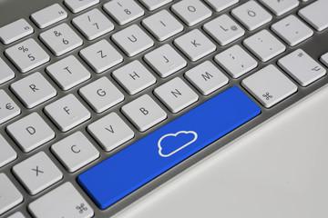 Tastatur mit cloud Taste