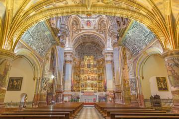 Fotomurales - GRANADA, SPAIN - MAY 29, 2015: The nave of church Monasterio de San Jeronimo.