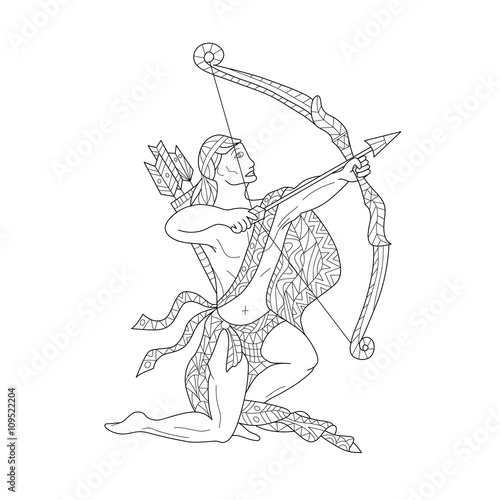 sagittarius coloring pages - photo #19