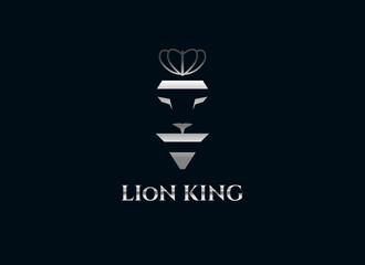 Lion logo design template.