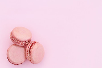 Three Pink Macarons
