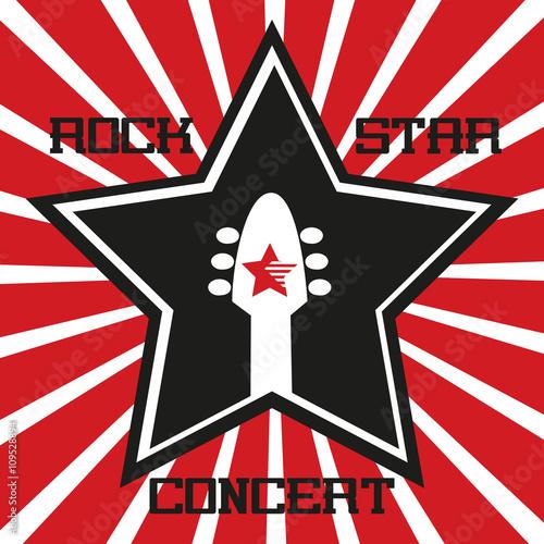 Music Festival Concept Rock Music Poster Background Star Guitar