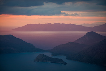islands and sunset in Turkey