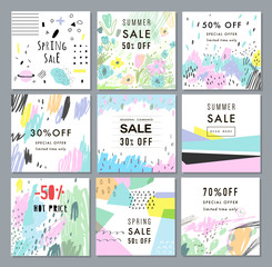 Collection of Sale banners. Sale template, tag, poster. Vector