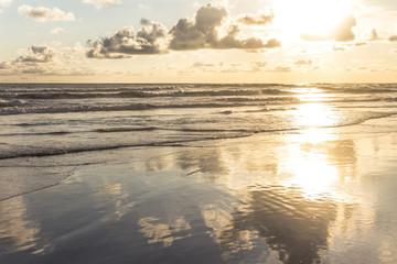 Sunset on beach of Yogyakarta