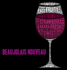 New Beaujolais wine word cloud concept