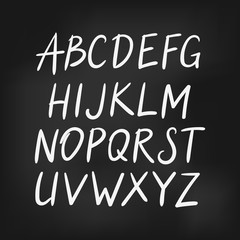 Latin english alphabet, vector simple font