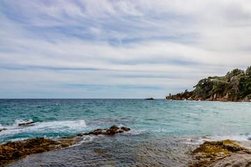 Crique et plage à Blanes