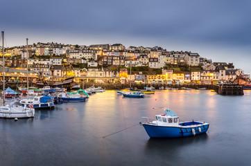 Hafen von Brixham, Devon, UK