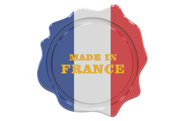 made in France seal, stamp. 3D rendering