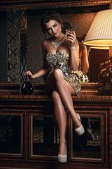 Stunning woman in beautiful dress