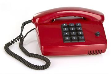 Rotes Retro Telefon
