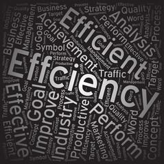 Effciency ,Word cloud art background