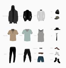 big set of clothes top, bottom, shoes