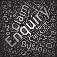 Enquiry,Word cloud art background