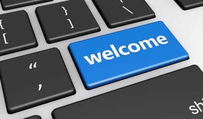 Welcome Web Blog Website Concept