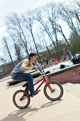 BMX Rider Riding