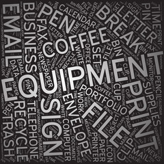 Equipment,Word cloud art background