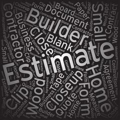 Estimate ,Word cloud art background