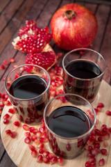 pomegranate juice with fresh fruits