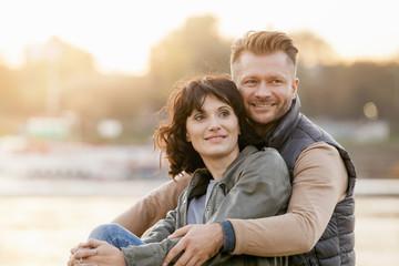 Mid adult couple, portrait