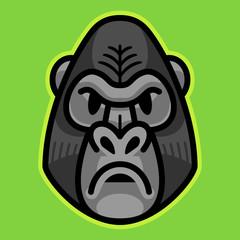 Gorilla Ape Monkey Face