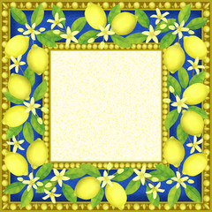 Frame with Lemons