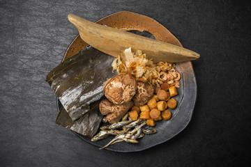 日本の出汁 旨味のもと  Japanese soup stock Japanese food