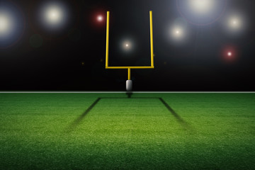 american football field goal post