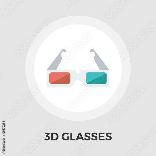 Flat 3d Glasses : Quot d glasses flat icon stock image and royalty free vector