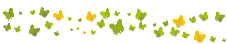 Schmetterlinge Grün Gelb Welle Wellen Band Banner