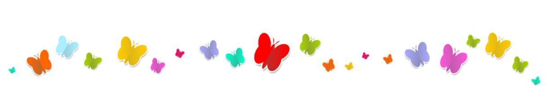 Schmetterlinge bunt reihe welle wellen bunt banner band